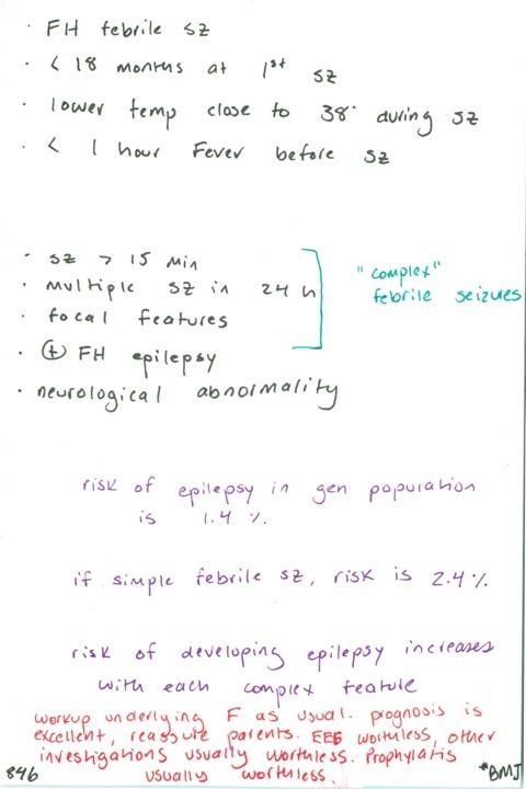 846. Risk factors to have a recurrent febrile seizure in subsequent illness after having febrile seizure / RFs to develop epilepsy after febrile seizure / Epilepsy risk in general population and in simple febrile seizures