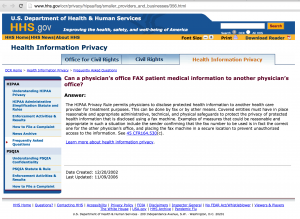 HIPAA Privacy Clarification