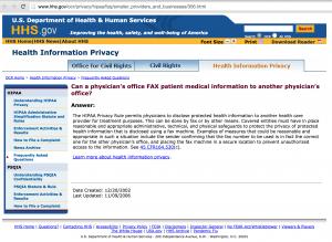 HIPAA Privacy Clarification